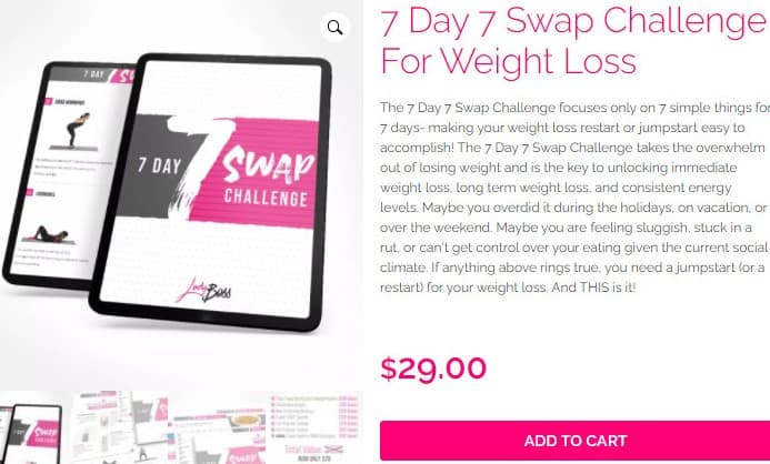 7 day 7 swap challenge for weight loss
