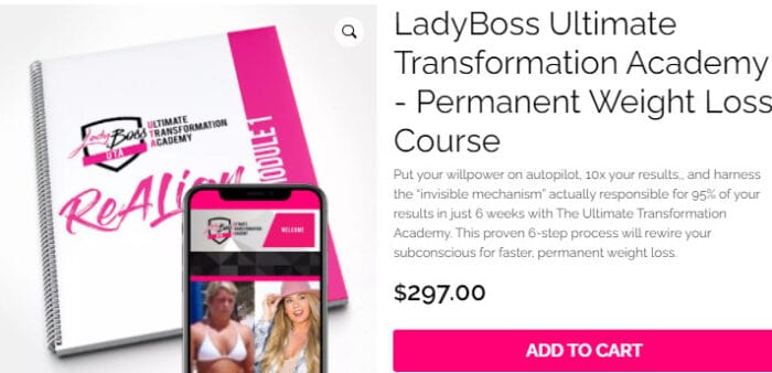 Lady Boss Ultimate Transformation Academy Permanent Weight Loss Course